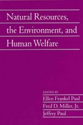 Natural Resources, the Environment, and Human Welfare 0 9780521139748 0521139740