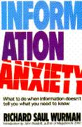 Information Anxiety 0 9780553348569 0553348566