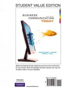 Business Communication Today, Student Value Edition 10th edition 9780138155063 0138155062