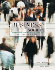 Business and Society 13th edition 9780078137150 0078137152