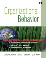 Organizational Behavior, Eleventh  Edition Binder Ready Version 11th edition 9780470556726 0470556722