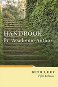 Handbook for Academic Authors 5th edition 9780521144094 0521144094