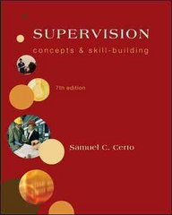Supervision: Concepts and Skill-Building 7th edition 9780073381510 0073381519