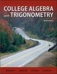 College Algebra with Trigonometry 9th edition 9780073519500 0073519502
