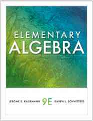 Elementary Algebra 9th edition 9781439049174 1439049173