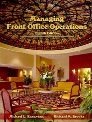 Managing Front Office Operations 8th edition 9780866123389 0866123385