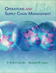 Operations and Supply Chain Management 13th Edition 9780073525228 0073525227