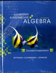 Elementary and Intermediate Algebra: Concepts and Applications Plus MyMathLab Student Access Kit 5th edition 9780321609670 0321609670