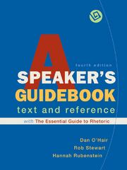 A Speaker's Guidebook with The Essential Guide to Rhetoric 4th edition 9780312596330 0312596332