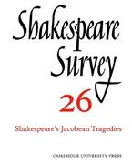 Shakespeare's Jacobean Tragedies 0 9780521523639 052152363X