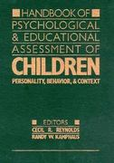 Handbook Of Psychological And Educational Assessment Of Chil 0 9780898623925 0898623928
