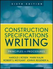 Construction Specifications Writing 6th Edition 9780470380369 0470380365
