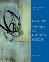 Essentials of Statistics for the Behavioral Sciences 7th edition 9780495812203 049581220X