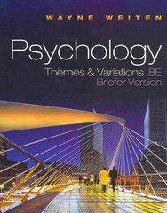 Psychology 8th edition 9780495903864 0495903868