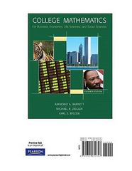 College Mathematics for Business, Economics, Life Sciences & Social Sciences, Books a la Carte Edition 11th edition 9780321622747 032162274X