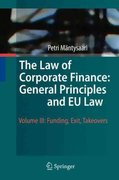 The Law of Corporate Finance: General Principles and EU Law 0 9783642030574 3642030572