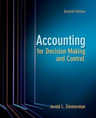 Accounting for Decision Making and Control 7th Edition 9780078136726 0078136725