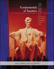 Fundamentals of Taxation 2010 3rd edition 9780073379678 0073379670
