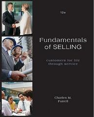 Fundamentals of Selling 12th edition 9780073529998 0073529990
