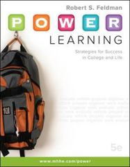 P.O.W.E.R. Learning: Strategies for Success in College and Life 5th edition 9780073375168 0073375160