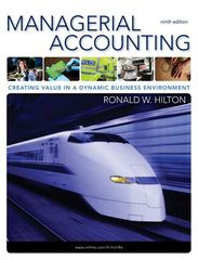 Managerial Accounting 9th Edition 9780078110917 0078110912