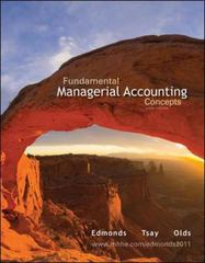 Fundamental Managerial Accounting Concepts 6th edition 9780078110894 0078110890