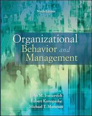 Organizational Behavior and Management 9th edition 9780073530505 0073530506