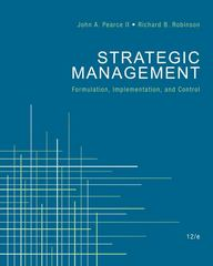 Strategic Management 12th edition 9780078137167 0078137160