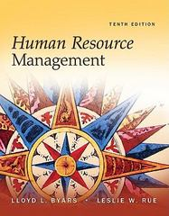 Human Resource Management 10th Edition 9780073530550 0073530557