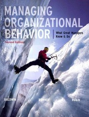 Managing Organizational Behavior:  What Great Managers Know and Do 2nd edition 9780077462734 0077462734