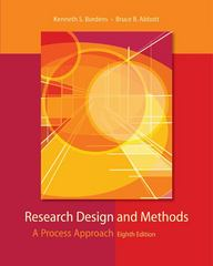 Research Design and Methods 8th Edition 9780073532028 0073532029