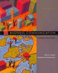 Business Communication: Building Critical Skills 5th edition 9780073403151 0073403156