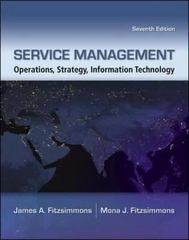 Service Management 7th edition 9780073403359 0073403350