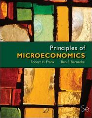Principles of Microeconomics 5th Edition 9780077318512 007731851X