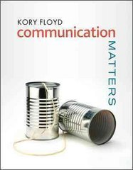 Communication Matters 1st Edition 9780073385112 0073385115