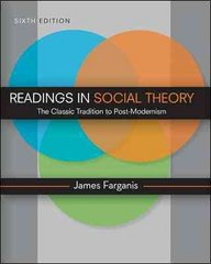 Readings in Social Theory 6th edition 9780078111556 0078111552