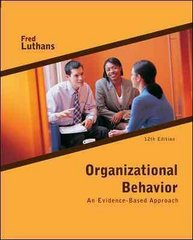 Organizational Behavior 12th Edition 9780073530352 0073530352