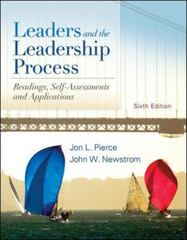 Leaders and the Leadership Process 6th Edition 9780078137105 0078137101