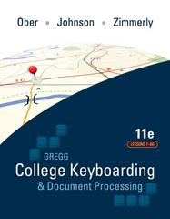 Gregg College Keyboarding & Document Processing (GDP); Lessons 1-60 text 11th Edition 9780077319366 0077319362