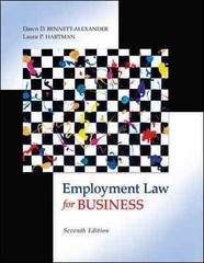 Employment Law for Business 7th Edition 9780073524962 0073524964