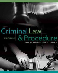 Criminal Law and Procedure 7th edition 9780495809814 0495809810