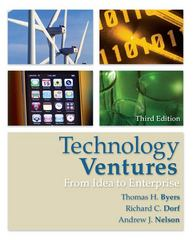 Technology Ventures: From Idea to Enterprise 3rd edition 9780073380186 0073380180