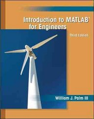 Introduction to MATLAB for Engineers 3rd Edition 9780073534879 0073534870