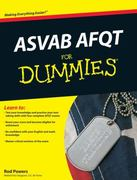 ASVAB AFQT For Dummies 1st edition 9780470566527 0470566523