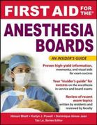 First Aid for the Anesthesiology Boards 1st edition 9780071471787 0071471782
