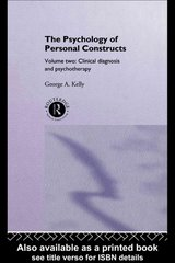 The Psychology of Personal Constructs 0 9781134957316 1134957319