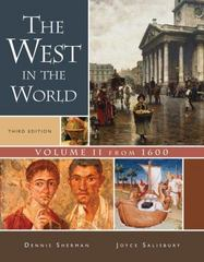 The West in the World, Volume II: From 1600 3rd edition 9780073316703 0073316709