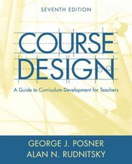 Course Design 7th edition 9780205457663 0205457665
