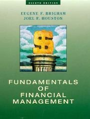 Fundamentals of Financial Management 8th edition 9780030244186 0030244188