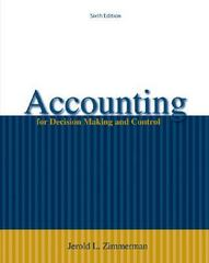 Accounting for Decision Making and Control 6th edition 9780073379487 0073379484